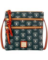 Dooney & Bourke - Nfl Oakland Raiders Triple Zip Crossbody Bag - Lyst