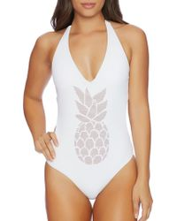 Reef - Halter Pineapple Hot Stud One Piece - Lyst