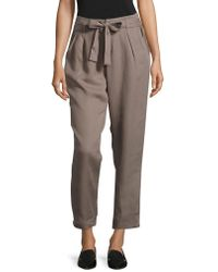 Lord & Taylor - Tie-waist Tapered Pants - Lyst