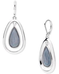 Anne Klein - Mother-of-pearl Teardrop Earrings - Lyst