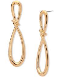 Anne Klein - Infinity Post-back Earrings - Lyst