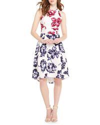 Maggy London - Floral Sleeveless Dress - Lyst