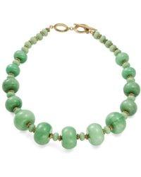 Lauren by Ralph Lauren - Fashion Graduated Semi-precious Beaded Collar Necklace - Lyst