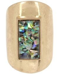 Kenneth Cole - Rough Luxe Abalone Stone Ring - Lyst
