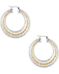 "Lucky Brand - Ethereal Coasts Hoop Earrings/1.8"" - Lyst"