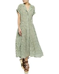 Nikki Chasin | Checkered Button-front Dress | Lyst