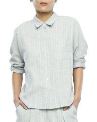 Svilu - Striped Button-down Shirt - Lyst