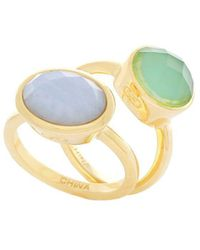 Cole Haan - Two-piece 4/25 Water Under The Bridge Round And Oval Stud Rings Set - Lyst