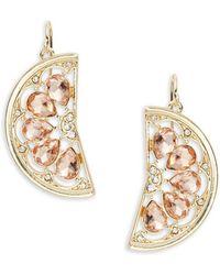 ABS By Allen Schwartz - Sun Daze Stone-accented Orange Slice Drop Earrings - Lyst