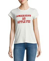 Lord & Taylor - Text Graphic Tee - Lyst
