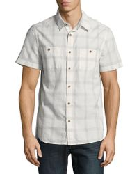 Lucky Brand - Point Collar Checked Sportshirt - Lyst