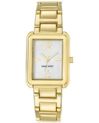Nine West - Square Mixed Metal Bracelet Analog Watch - Lyst