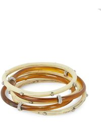 Lauren by Ralph Lauren - Embelished Stackable Bangle Set - Lyst