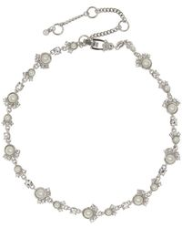 Givenchy - Swarovski Crystal And Faux Pearl Collar Necklace - Lyst