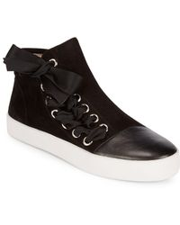 Avec Les Filles - Valerie Leather And Suede Sneakers - Lyst