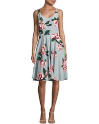 Paper Crown - Floral A-line Dress - Lyst