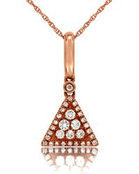 Marco Moore - Diamond And 14k Rose Gold Triangle Pendant Necklace - Lyst