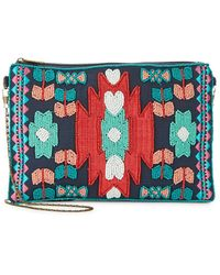 Steven by Steve Madden - Essence Embroidered Geometric Clutch - Lyst