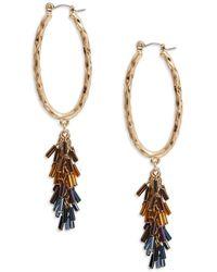 Nanette Lepore - Bead-accented Hoop Earrings - Lyst