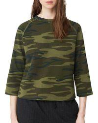 Mango - Classy Sweatshirt With Stripe Design - Lyst