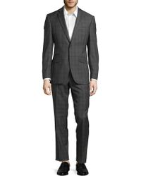 Ted Baker - Plaid Buttoned Wool Suit - Lyst