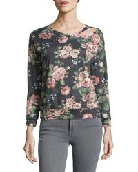 West Kei - Floral Cutout Top - Lyst