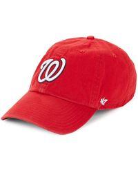 47 Brand - Washington Nationals Adjustable Baseball Cap - Lyst