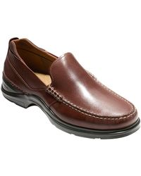 Cole Haan - Moc Toe Leather Loafers - Lyst