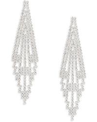 Lord & Taylor - Tiered Drop Earrings - Lyst