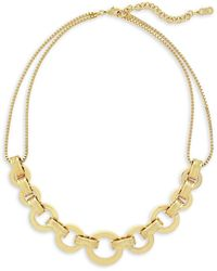 Cole Haan - 7/25 Catseye On You Gold Statement Necklace - Lyst