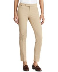 Lauren by Ralph Lauren - Stretch Twill Skinny Trousers - Lyst