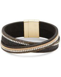 Lord & Taylor - Stripe Twisted Bracelet - Lyst