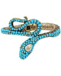 Betsey Johnson - Mystic Baroque Queens Snake Hinge Cuff - Lyst
