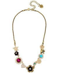 Betsey Johnson - Mystic Baroque Queens Multi-charm Statement Necklace - Lyst