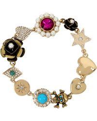 Betsey Johnson - Mystic Baroque Queens Multi-charm Bracelet - Lyst