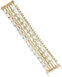 Lucky Brand - Lost And Found Crystal Chain Layer Multi-strands Bracelet - Lyst