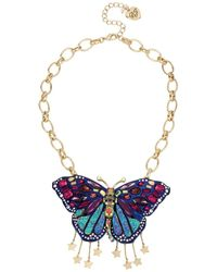 Betsey Johnson - Multi-color Butterfly Pendant - Lyst