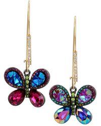 Betsey Johnson - Butterfly Drop Earrings - Lyst