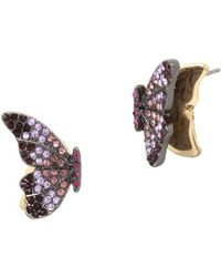 Betsey Johnson - Butterfly Stud Earrings - Lyst