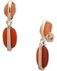 Anne Klein - Double Clip-on Dangle & Drop Earrings - Lyst