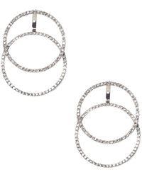 Vince Camuto - Crystal Geo Double Hoop Earrings - Lyst