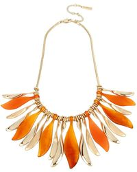 Kenneth Cole - Textured Metals Carnelian Charms Sun-ray Frontal Necklace - Lyst