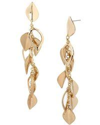 Kenneth Cole - Leaf & Chain Drop Earrings - Lyst