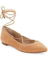 424 Fifth - Charisma Suede Flats - Lyst