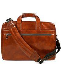 Bosca - Leather Stringer Brief Case - Lyst