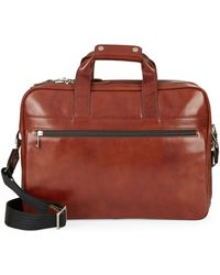 Bosca - Leather Stringer Brief Case0162-81727 - Lyst
