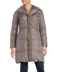 Via Spiga - Pillow Collar Quilted Down Puffer Coat - Lyst