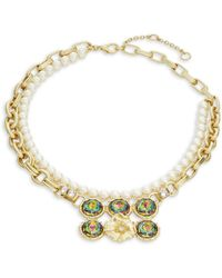 Gerard Yosca - Headlight Stone Simulated Pearl Floral Nested Necklace - Lyst