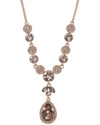 Givenchy - Topaz And Crystal Frontal Necklace - Lyst