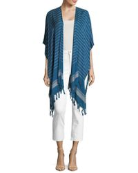 Lord & Taylor - Striped Fringe Shawl - Lyst